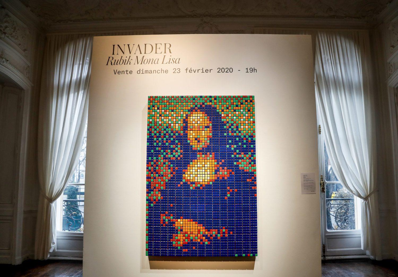 Jóval a becsült ár fölött kelt el a Rubik-kockákból kirakott Mona Lisa